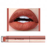 Ladies Fashion Long Lasting Matte Liquid Lip Gloss - Orange Red