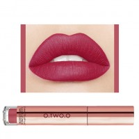 Ladies Fashion Long Lasting Matte Liquid Lip Gloss - Cherry Red