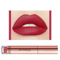 Ladies Fashion Long Lasting Matte Liquid Lip Gloss - Watermelon Red
