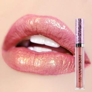 Non Stick Mermaid Pearly Shiny Lip Gloss - Peach Pink