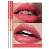 Double Headed Matte Liquid Pearlescent Lip Glitter - Berry
