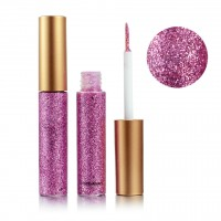 Colorful Sequins Pearlescent Liquid Eye Shadow - Barbie Pink