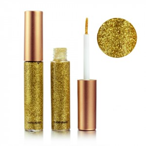 Colorful Sequins Pearlescent Liquid Eye Shadow - Golden
