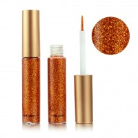 Colorful Sequins Pearlescent Liquid Eye Shadow - Orange