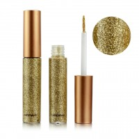 Colorful Sequins Pearlescent Liquid Eye Shadow - Gray Gold
