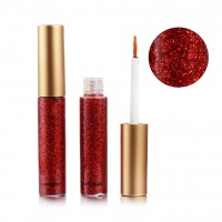 Colorful Sequins Pearlescent Liquid Eye Shadow - Red
