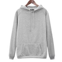 Winter Special Duo Pocket Full Sleeves Hoodie Top - Gray