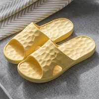 Rubber Sole Soft Casual Slippers - Yellow