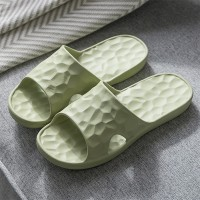Rubber Sole Soft Casual Slippers - Green