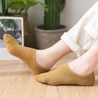 Ribbed Fashion Wear No Show All Season Socks - Yellow