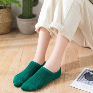 Ribbed Fashion Wear No Show All Season Socks - Green