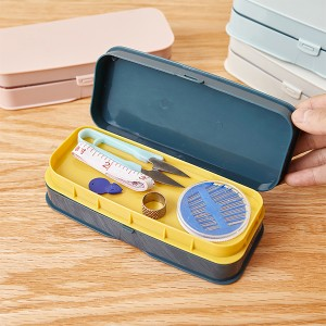 Creative Colorful Thread Manual Stitching Sewing Tools Box - Green