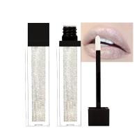 Pearlescent Non Sticky Lip Gloss - Shiny Silver