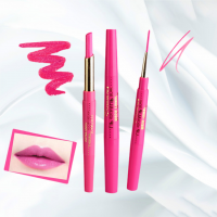 Rotating Double Headed Moisturizing Lip Liner - Hot Pink
