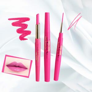 Rotating Double Headed Moisturizing Lip Liner - Hot Pink