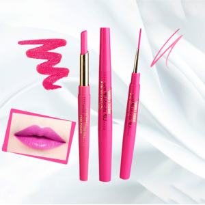 Rotating Double Headed Moisturizing Lip Liner - Rose Purple