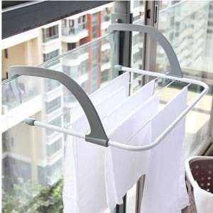 Foldable Clothes Towels Drying Rack Hanger - White