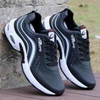 Attractive Design Non Slip Comfortable Casual Wear Sneakers - Black