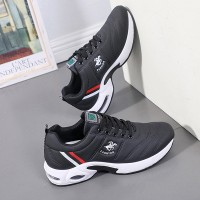 Colorful Striped Soft Bottom Sports Running Sneakers - Black
