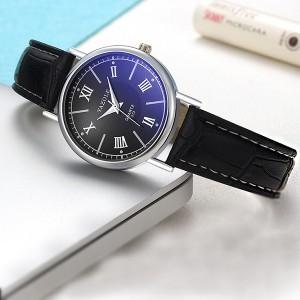 Roman Dial Analogue Style Women Fashion Wrist Watch - Black