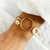 Ladies Simple Chain Retro Bracelet - Golden