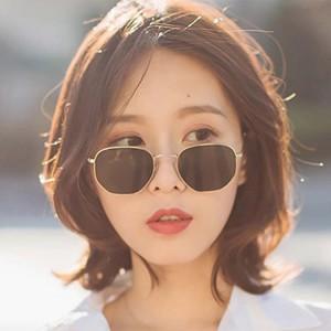 Fashion Personality Retro Gold Frame Sunglasses - Black
