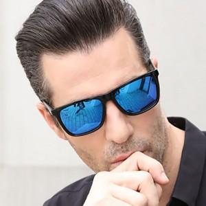 Mens Fashion Driving Riding Fishing Sunglasses - Blue Black