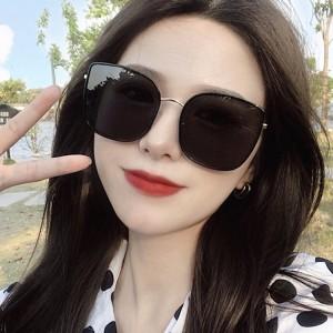 New Arrival Girls Big Frame Trendy Sunglasses - Black Gold