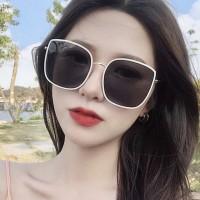 New Arrival Girls Big Frame Trendy Sunglasses - Black White
