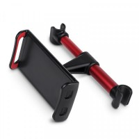 Easy Installation Car Head Rest Seat Stand Mobile Holder - Red