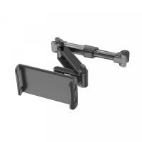 Adjustable Easy Installation Car Headrest Seat Stand Mobile Holder - Black
