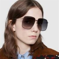 Square Retro Oversized Sunglasses - Dark Gray