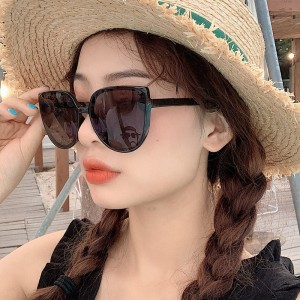 UV Protection Trend Metal Hinge Sunglasses - Black