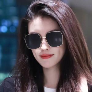 Girls Fashion Gold Frame Sunglasses - Dark Gray