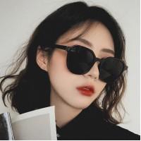 Girls Fashion Retro Wild Sunglasses - Black