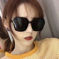 Girls Suqre Oversize Frame Wild Sunglasses - Black