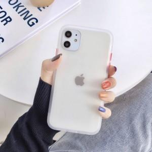 Safe Frame Thin TPU Translucent Matte Back Cover For Mobile Phones - White