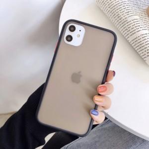 Safe Frame Thin TPU Translucent Matte Back Cover For Mobile Phones - Black
