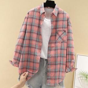 Check Prints Women Casual Wear Fashion Shirt - Pink