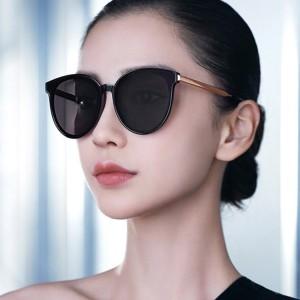 Girls Fashion Round Frame Sunglasses - Black
