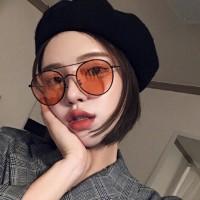 Retro Metal Frame Sunglasses For Women And Men - Orange