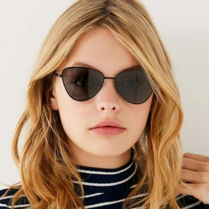 Fashion Metal Retro Frame Sunglasses For Men And Woman - Black