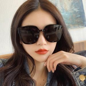 Unisex Oversize Frame Wild Sunglasses - Black