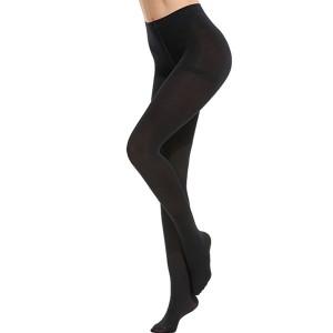 Skin Color Thin Fabric Fine Quality Tight Leg Stockings - Black