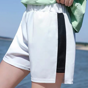 Elastic Waist Casual Style Women Fashion Shorts - White
