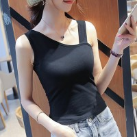 Sleeveless Body Fitted Women Fashion Top - Black