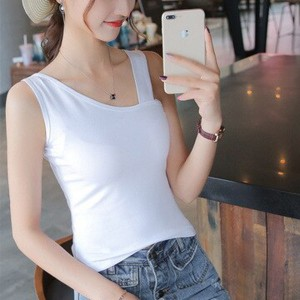 Sleeveless Body Fitted Women Fashion Top - White