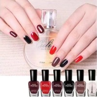 Six Pieces Multicolor Water Resistant Party Special Nail Polish Set - Vintage Shades