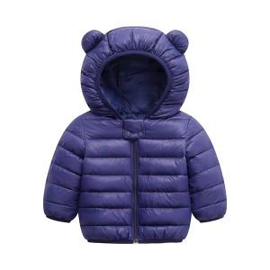 Cute Kids Printed Animal Prints Winter Wear Jacket - Purple