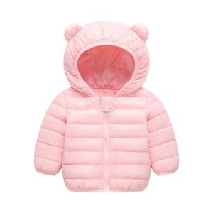 Cute Kids Printed Animal Prints Winter Wear Jacket - Light Pink